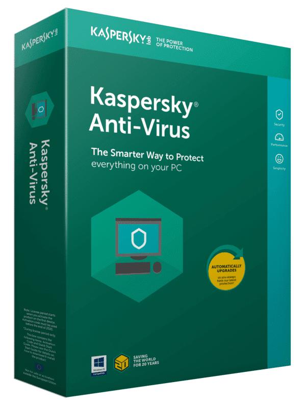 Kaspersky Lab Anti-Virus 2019 -tuotekuva